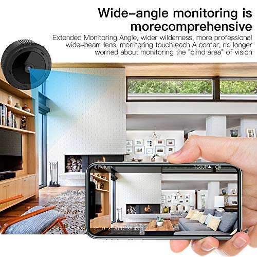 Mini Kamera, ZHITING 1080P HD WiFi Camera, Small Wireless Home Security Surveillance Cameras with Night Vision, Motion Detection, Remote View for iPhone/Android Phone/iPad/PC