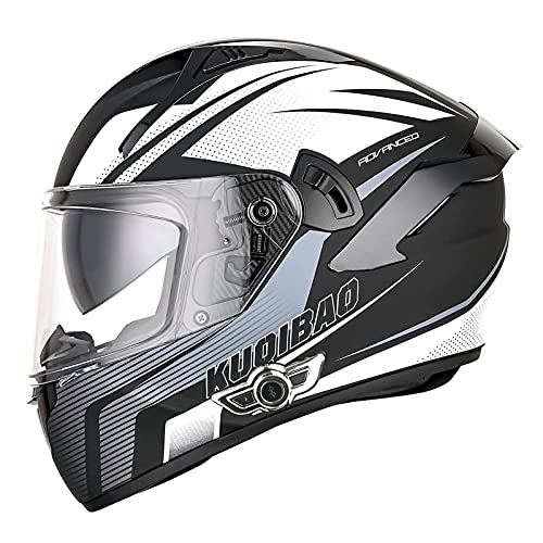 LILIXINGSH Casco Moto Bluetooth Integrado Casco Moto Integral para Hombre Mujer Casco Moto Modular con Doble Visera ECE Homologado (Color : D, Size : 57-58CM(M))
