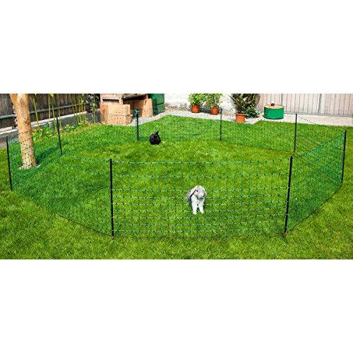 Kerbl 292216 Kaninchennetz 25 m, 65 cm Einzelspitz, grün - 2