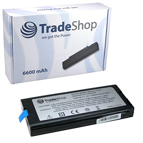 TradeShop hohe Qualitäts Li-Ion Akku 10,8V/11,1 6600mAh für Panasonic ToughBook Tough Book CF-29 CF-51 CF-52 ersetzt CF-VZSU29 CF-VZSU29A CF-VZSU29AU CF-VZSU29U CF-VZSU29ASU CF-VZU29A