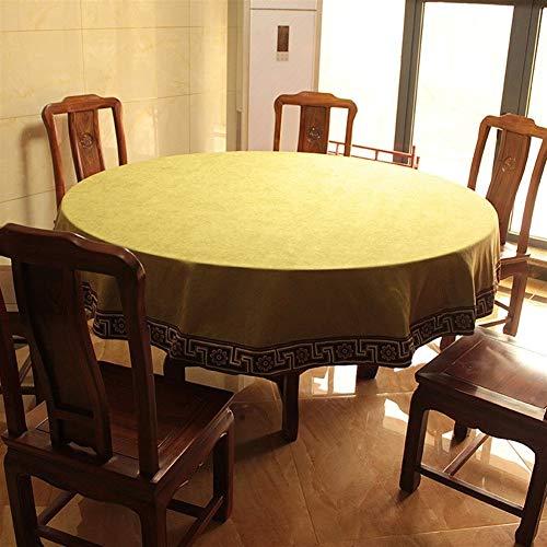 Stain stofdicht Doek Decoratieve tafellaken Simple Style Tafelkleed, Ronde Tafelkleden, For Stofvrije Tafelafdekking For Buffet Table, Partijen, Het Diner (Color : D, Size : 260cm round)