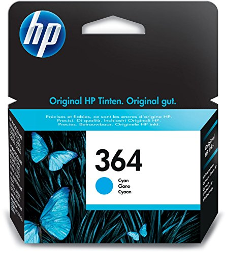 HP 364 Blau Original Druckerpatrone für HP Deskjet 3070A, 3520; HP Photosmart 5510, 5515, 5520, 5525, 6510, 6520, 7510, 7520, C5324, C5380, C6324, C6380, B8550, D5460; HP Officejet 4620, 4622