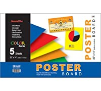 BAZIC 22 X 14 Asst. Color Poster Board (5/Pack) (Case of 48) [並行輸入品]