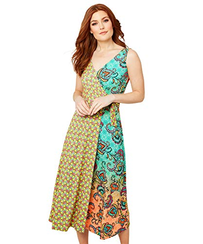 Joe Browns Vrouwen Casual Jurk Funky Mix and Match Print Summer Dress