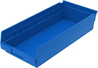 $60 » Akro-Mils 30158 18-Inch by 8-Inch by 4-Inch Plastic Nesting Shelf Bin Box, Blue, Case of 12