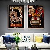 QZROOM Pulp Fiction Klassische Filmplakate Vintage Art