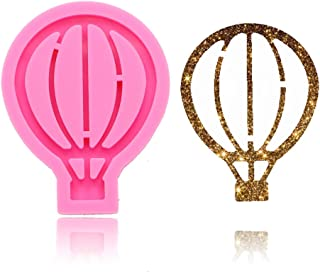 Hot Air Balloon Keychain Silicone Mold with Hole for DIY Crystal Handmade Ice Cream Fondant Mold Cake Topper Decoration Candy Gum Paste Chocolate Jelly Shots Desserts Pudding Soap Mould Ice Cube