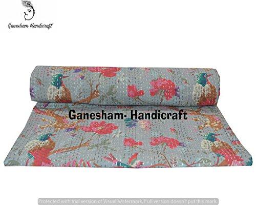 indien hippie Gypsy Floral Home Decor indien Couverture Couette, faite à la main, Bohemian Kantha Parure de lit, couvre-lit de Bohême, jeté de lit, lit indien, coton couvre-lits, Kantha Parure de lit, vintage Kantha