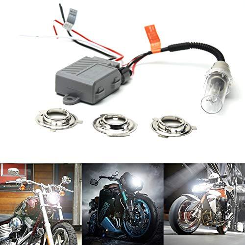 High Power 6000 K Xenon blanco H6M H4 9003 HB2 BA20D Socket HID Dual High Low Beam Head Light Ballast Kit para motocicleta Sport Racing Bike ATV