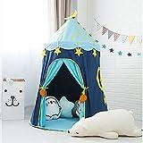 Wonder Space Moon Stars Children Play Tent, Premium Soft Thick Oxford Fabric Handmade Kids Castle Playhouse,...
