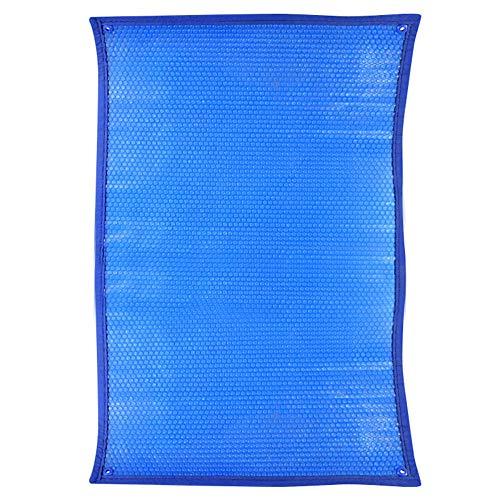 LXLA Cubierta Solar Piscina Cubierta de Piscina de Burbujas, Cubiertas Solares Grandes para Jacuzzi Von Ojales, Manta Calefactora Solar para Piscinas Enterradas y Elevadas, Azul