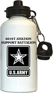 601st Aviation Support Battalion - US Army Water Bottle White, 1027