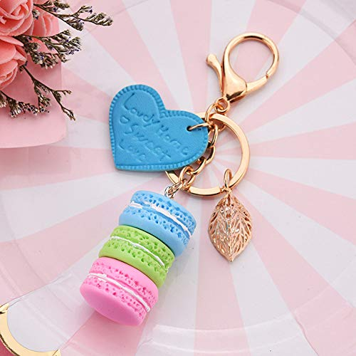 VYZSD sleutelhanger voor dames New Macaron Cake PU legering Amore Foglia sleutelhanger sleutelhanger sleutelhanger sleutelhanger beste geschenk