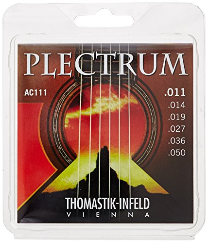 Thomastik Cuerdas para Guitarra Acústica Plectrum Acoustic Series juego AC112 Medium-Light .012-.059 sin niquel