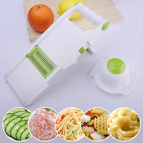 Veggie Slicer Lebensmittel Cutter Küche, Gemüseschneider, Klein, Multi-Funktion, in Scheiben geschnitten, zerrissenen, gewürfelt, Haushalt-Gemüseschneider mit Aufbewahrungsbehältern Gemüse Chopper Chi