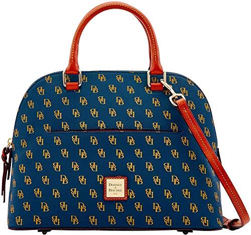 Dooney & Bourke Gretta Carter DB Signature Umhängetasche, Handtasche, Blau (navy), Einheitsgröße