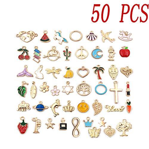 Colgante, 23 piezas mixtas para hacer joyas, maquillaje, pintalabios, vestidos, bolsos, sombreros, colgantes, collares y pulseras para mujeres y niñas
