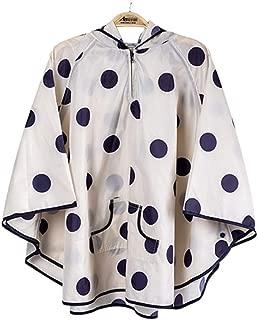 LUMMY KIDS Boys Girls Retro Polka Dot Rainwear Children Cute Crystal Raincoat Kids Waterproof Cape Poncho