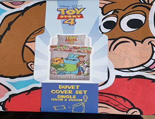 Toy Story 4 Disney Pixar - Juego de cama (funda nórdica de 135 x 200 cm)