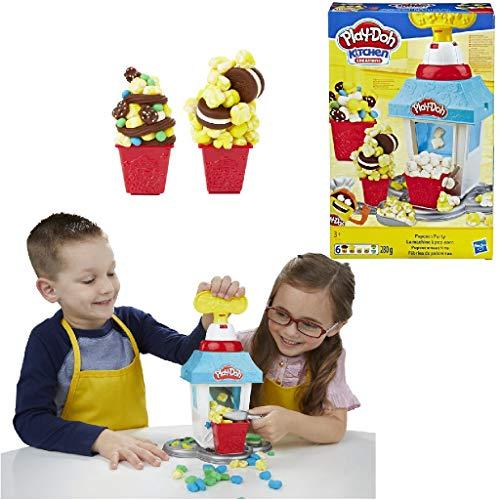 Play-Doh Popcornmaschine mit 6 Dosen Play-Doh Knete, ab 3 Jahren