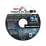 Hiren s Boot CD/DVD PE x64 bit Software Repair Tools Suite 2021 + 1 Free Do-It-Yourself Instructions DVD/Live Phone Tech Support latest version Best PC Computer Repair Recovery Compatible with Windows