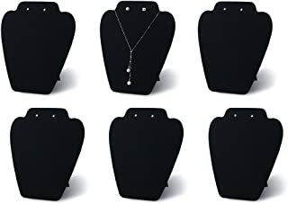7TH VELVET 6 Pieces Black Velvet Easel Necklace & Earing Display 7 3/8