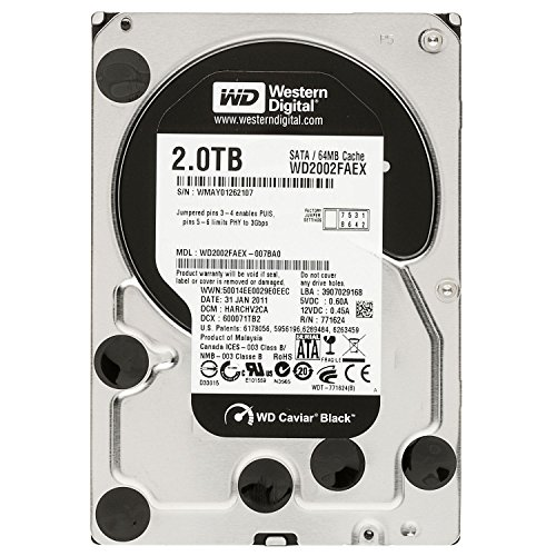 Western Digital WD2002FAEX Black 2TB interne Festplatte (8,9 cm (3,5 Zoll), 7200rpm, 4,2ms, 64MB Cache, SATA III)