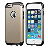 iPhone 6/6s Case, LUVVITT [Ultra Armor] Shock Absorbing Case Best Heavy Duty Dual Layer Tough Cover for iPhone 6 / iPhone 6s - Black/Champagne Gold