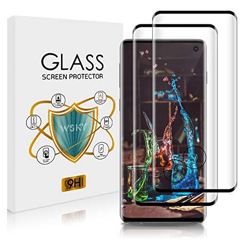 Bodyguard - Pellicola protettiva per Samsung Galaxy S10, 2 pezzi, anti-bolle per Samsung Galaxy S10, in vetro temperato, trasparente, in morbido TPU, protezione completa [antigraffi]