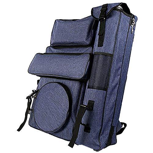 Yiyu Multifunktionale Rucksack Drawboard Taschen Für Zeichnung Skizzieren Malerei Kunst Liefert, Künstler Portfolio Rucksack Tasche Wasserdicht z (Color : Blue)