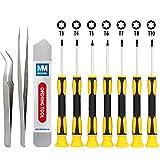 MMOBIEL Schraubenzieher Satz 11 teilig Torx Schraubendreher Werkzeug Set mit rutschfesten Griff für elektronische Geräte