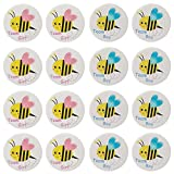 Mirabuy 40 Pack Bee Gender Reveal Button Pins, Team Boy Girl Button Pins for Gender Reveal Party Games Baby Shower Party Ideas