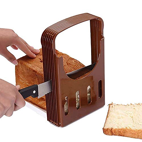 Bread Slicer-Adjustable Toast Slicer/Bread Slicer, Compact Foldable Bread Sandwich Toast Bread Slicer