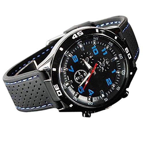 Bodhi2000, orologio sportivo da uomo in silicone, in stile aviatore militare Blu Taglia unica