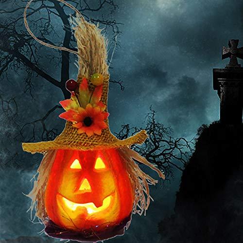 Halloween Deko Halloween Kostüm Grusel Dekoration KürbisWindlicht für Karneval Cosplay Kostümparty Halloween Party Dekoration von Tisch Haus und Garten (Type2)