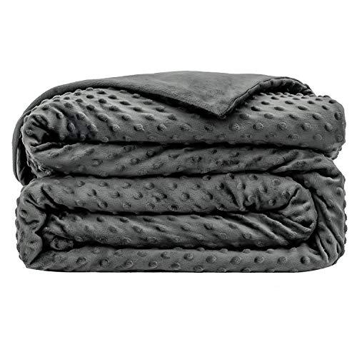 ARNTY Funda de Manta con Peso Terciopelo de Cristal,Velvet Weighted Blanket Cover (152*203cm,para Adultos)