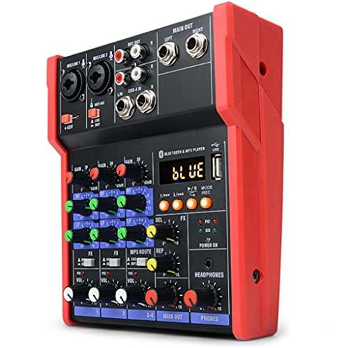 ZLDGYG SMDMM tarjeta de sonido Bluetooth etapa hogar Ktv USB 5v mini mezclador música portátil DJ consola estudio rendimiento en vivo