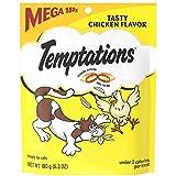 WHISKAS TEMPTATIONS Treats for Cats MEGA BAG Tasty Chicken, (6.3 OZ)