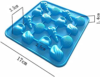 Freshyware 15 Cavity Special Sea Creature Theme Shell Shaped Silicone Mold for Soap Making Mini Bath Bomb Crafts Candy Chocolate bar Assort Color Size 17 X 17 x 1.4cm Art Molds Silicone Design 58