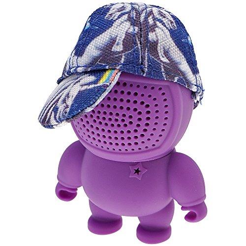 Longbow Mini Bluetooth luidsprekerbox, 3,5 mm AUX-IN, Audio Bot Speaker met fullcap in paars, blauw