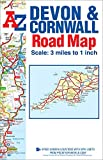 Devon & Cornwall A-Z Road Map