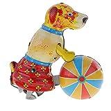 Homyl Nostalgie Wind-up Spielzeug mit Schlüssel Hund Modell Blechspielzeug
