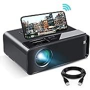 ELEPHAS Mini Beamer für iPhone, WiFi Beamer Heimkino mit synchronisiertem Bildschirm, tragbarer 1080P HD Beamer bis 200 Zoll, kompatibel mit Android / iOS / USB / SD / VGA