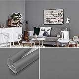 carta da parati adesiva pellicola adesiva per mobili grigio chiaro 61x500cm pvc adesivo da parete per pareti antivegetativa e resistente all'umidità carta autoadesiva per pareti mobili