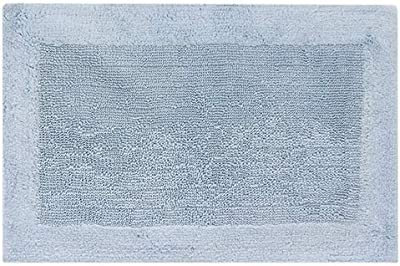 "Royal Touch ' 86OBO153001700024 100% Certified Egyptian Cotton Bath Rug, 17"" X 24"", Aqua"