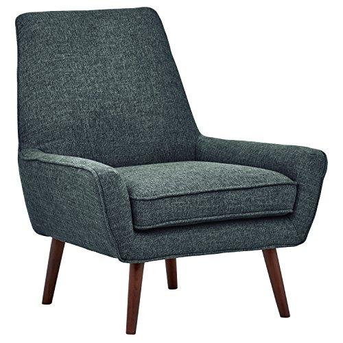 Amazon Marke -Rivet Jamie Akzent-Stuhl im Stil der 1950er Jahre mit niedrigen Armlehnen, B 79cm, Marineblau