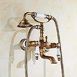 TougMoo robinet douche baignoire ancienne Porcelaine Bronze robinet de douche salle de bains Téléphone baignoire robinet avec...