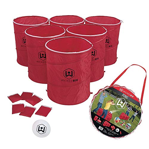 Wicked Big Sports Supersized Pong Outdoor/Indoor Sport Tailgate Games, 6 Cups, Multi (965)