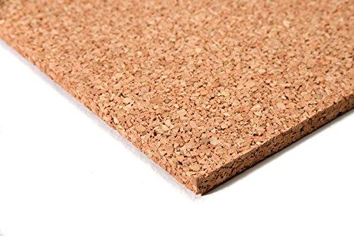 acerto24 - Planchas de corcho (50 x 100 cm, 15 mm grosor, elásticas y antiestáticas)