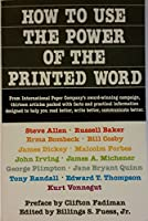 How to Use the Power of the Printed Word 0385182155 Book Cover